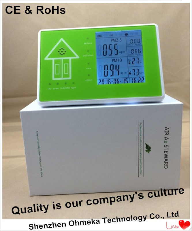 Free shipping Indoor air quality Meters desktop PM10 and PM2.5 monitor digital indoor air quality carbon dioxide meter temperature rh humidity twa stel display 99 points made in taiwan co2 monitor