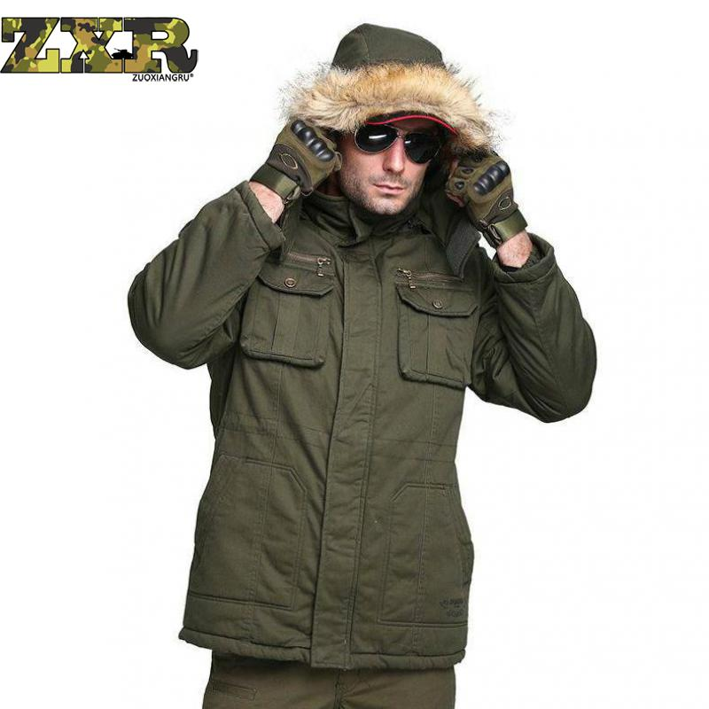 Men Winter Camouflage Thermal Parka Military Tactical Warm Down Cotton Padded Hooded Jacket Waterproof Hunting Hiking Outwear viishow new winter jacket men warm cotton padded coat mens casual hooded jackets handsome parka outwear men jaqueta masculino