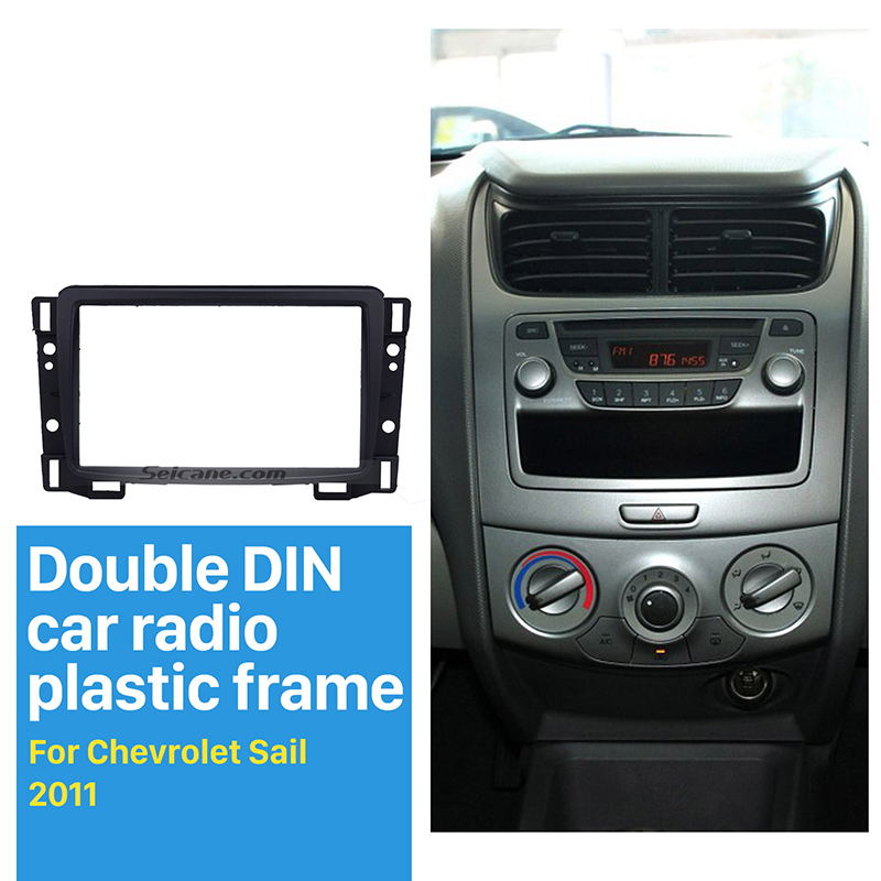 Best Car Double Din Fascia For 2010-2015 Chevrolet Sail DVD Radio Stereo Refit Panel Dashboard Modified Installation Kit Frame