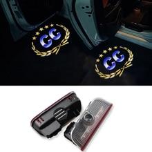 2pcs Car Door Logo Ghost ShadowProjector Light For VW Golf 5 6 7 Jetta MK5 MK6