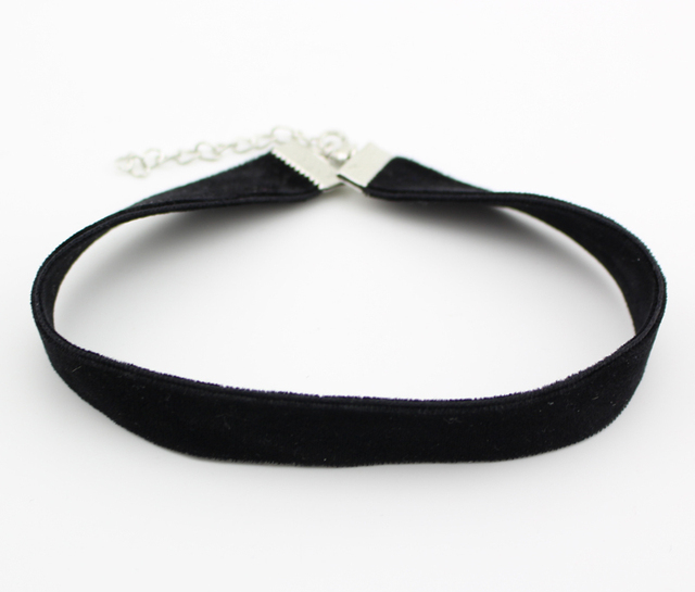 Black Classy Velvet Gothic Choker Necklace