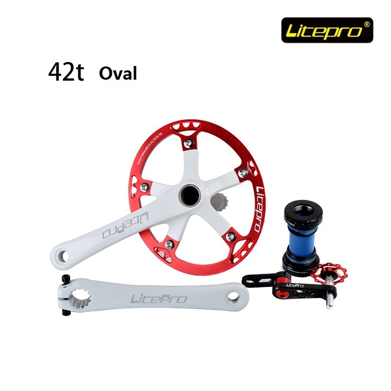 Oval Disk Suit Litepro 42T Plus or minus 3 Integrated type Road Crank Chain wheel With Axis and Pull Chain tools Folding BikeOval Disk Suit Litepro 42T Plus or minus 3 Integrated type Road Crank Chain wheel With Axis and Pull Chain tools Folding Bike