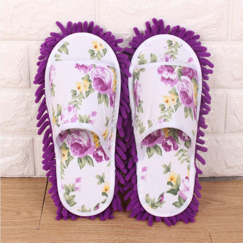 Floor cleaning slippers microfiber mop cleaning shoes lazy ladies dust slippers home bedroom bathroom shoes