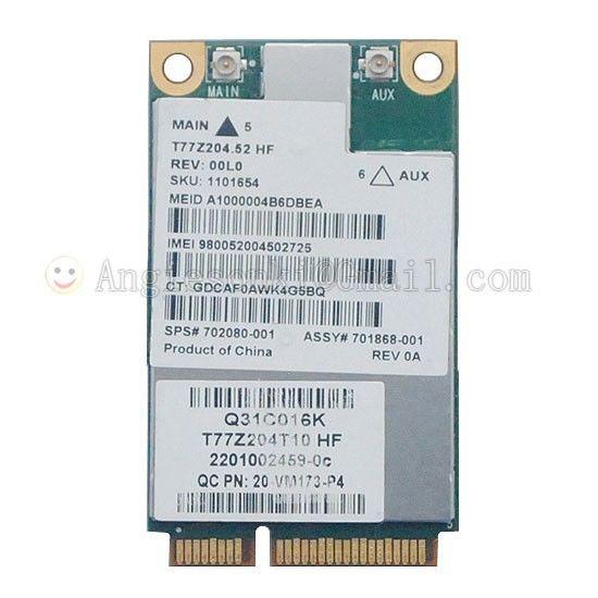 US $19 99 |3G Wireless UN2430 Gobi3000 MC8355 Mobile Broadband 702080 001  634400 001 WWAN Card for HP 5330m 6560b 4430s 8560p 2170p 8560w-in 3G  Modems
