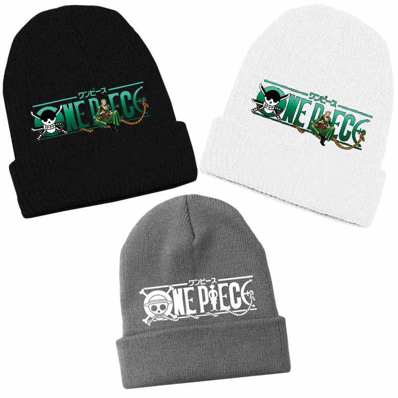 426f12d3dbe4b Fashion Anime One Piece Pirate Hunter Roronoa Zoro Beanie Cotton Knitted  Ski Skullies Hip-Hop