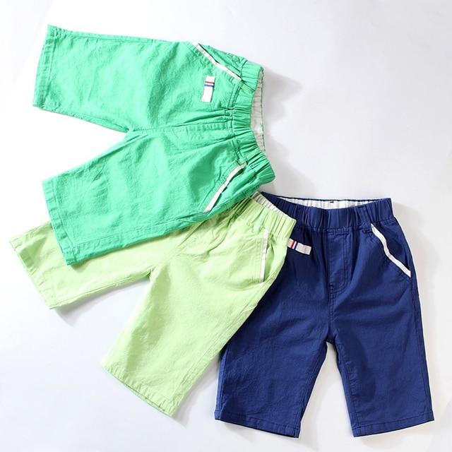 Venta caliente bebé niños pantalones cortos de verano de cintura elástica pantalones de ocio niño niños chico traje de baño para la edad de 3- 13 años.