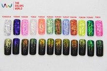 גודל Mix צורה ססגוני קשת צבע משושה פנטזיה TCT 009 אמריקאי קישוט גוף DIY נייל גליטר לנייל ארט או אחר