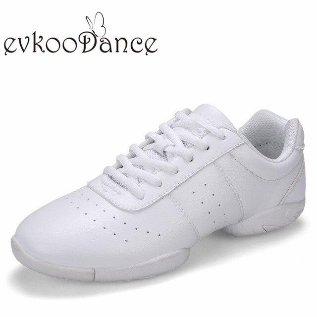 morbida J EVA flexiable Sport Scarpe confortevole Scarpe e Ballo Da Pelle bianca Danza Donna suola 16qtw