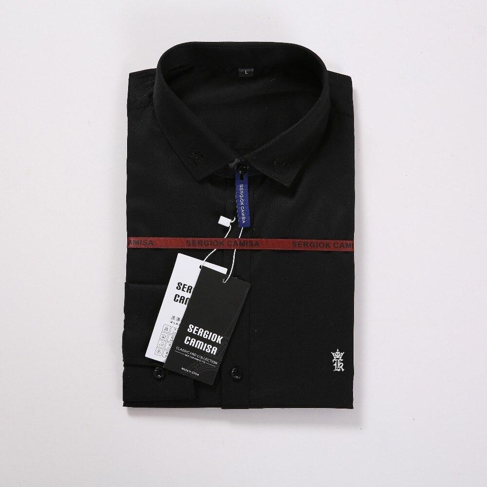 Image 5 - Aramis Sergio K Dudalina Men Shirt Camisa Social Masculina 2019 Men Shirt Embroidery Logo Long Sleeve Business Casual Shirts Men-in Casual Shirts from Men's Clothing