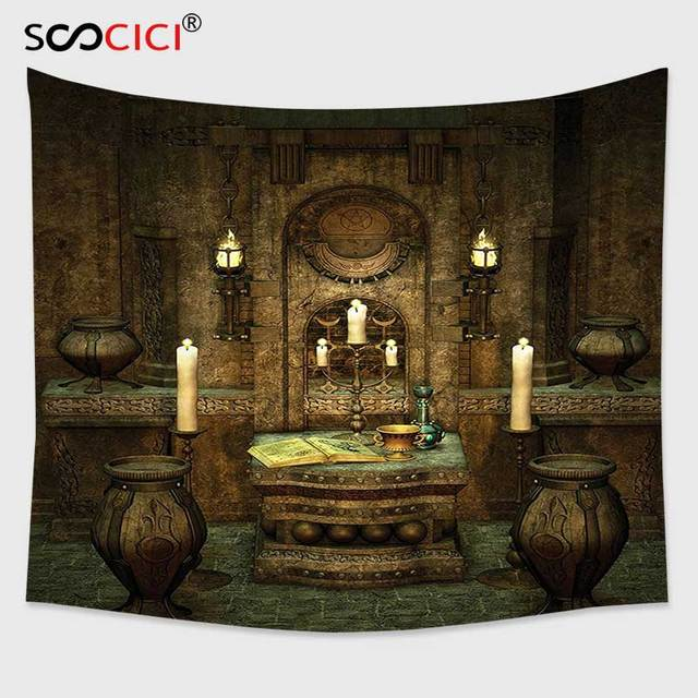 Cutom Tapestry Wall Hanging Gothic House Decor A Room With Altar In