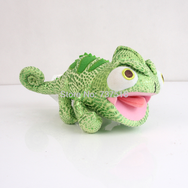 "New Anime Movie Tangled 8.5"" Green Pascal Stuffed Animals Crawling Lizard Plush Soft Doll Toys Chameleon Figure Kids Gift"