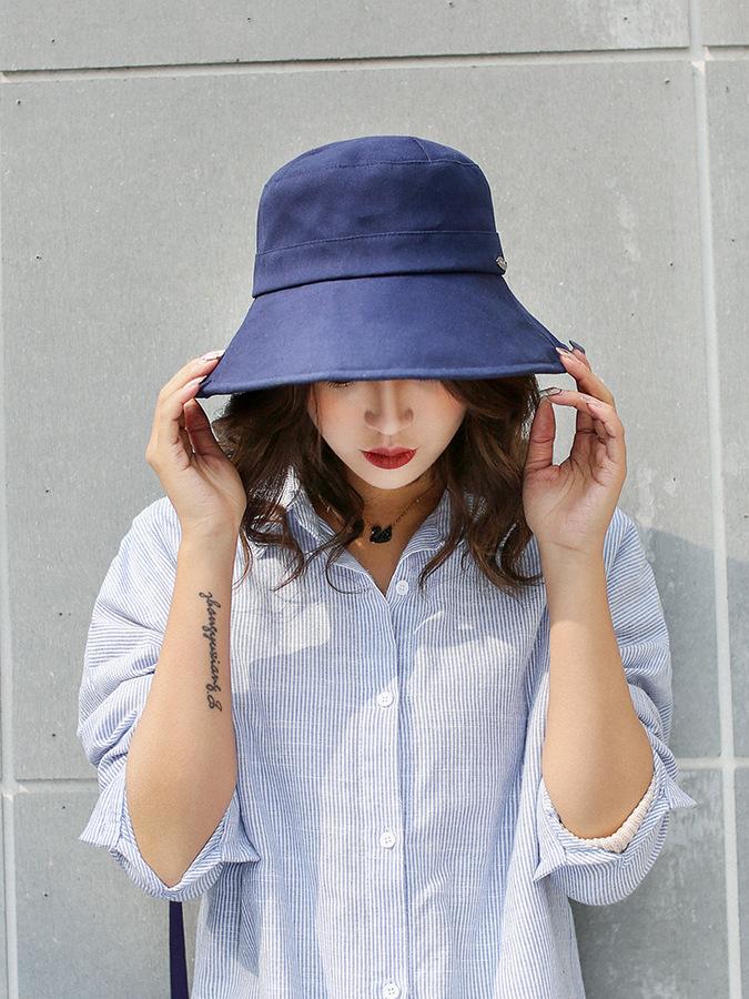 Mujeres del resorte tapa sombrero plano sombrero bucket sombrero Sol ... 388086fa533