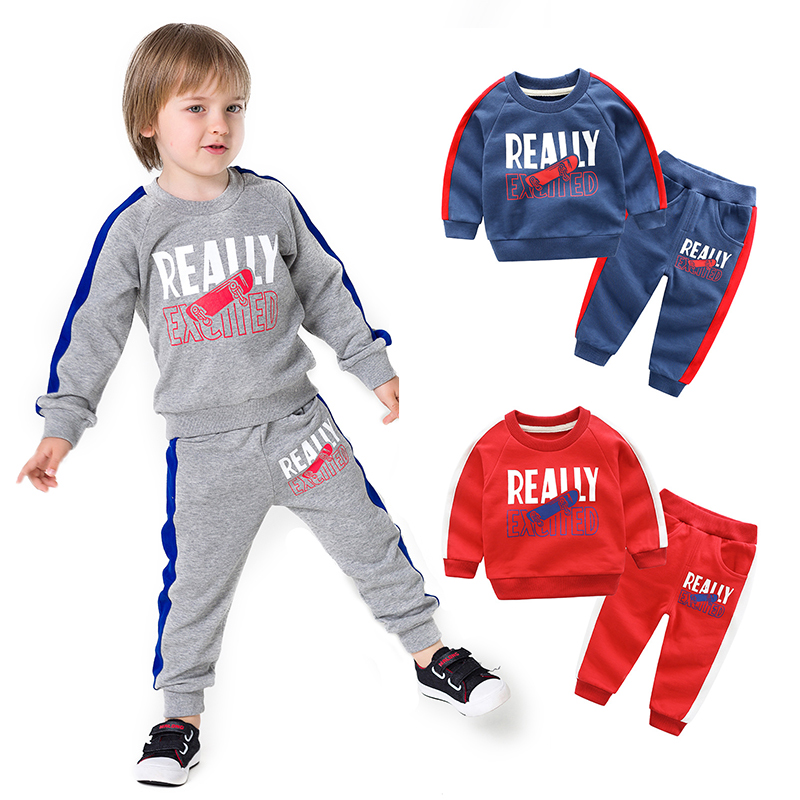 Boys Girls Clothing Set 2018 Children Sports Clothes Set Cotton Kids Outfit for Autumn Winter Tracksuit for 2 3 4 5 6 7 8 Years 2018 autumn children clothing set for boys cotton kids tops and pants 2pcs set tracksuit 2 3 4 5 6 9 years fashion kids clothes