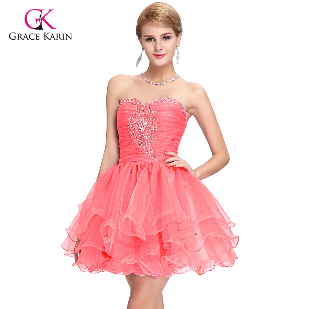 Cute Back to School Short Prom Dresses 2018 Grace Karin ...