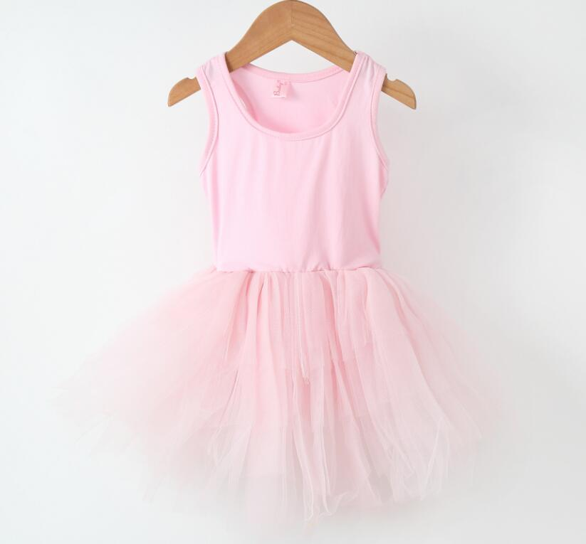 eab86eb4d 2018 Children Kids Mesh Tutu Bale Dance Dresses