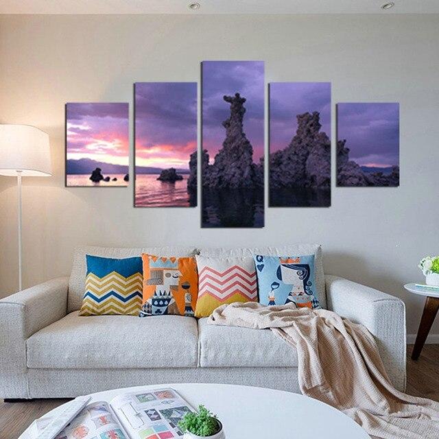 Paysage Mur Photos Pour Salon Moderne 5 Panneau Toile Peinture Décorative  Art Tableau Décoration Murale