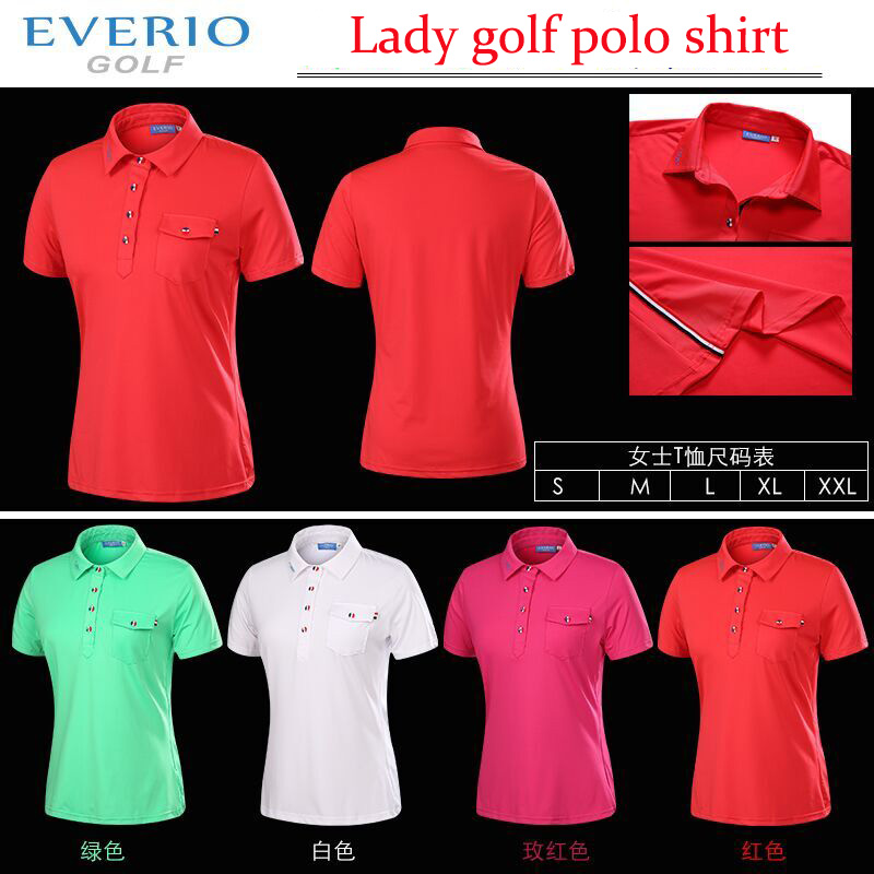 Lady Summer Polyster Brand font b Polo b font Shirts Quick Dry Golf font b Polo