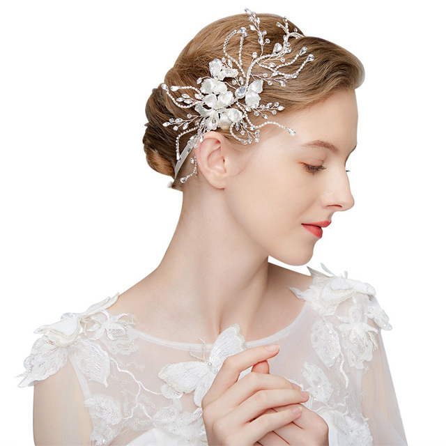 Dower me Crystal Headband Tiara Bridal Crown Silver Head Pieces Women Hair  Accessories for Wedding Party Pageant Prom 04a6803e85ed