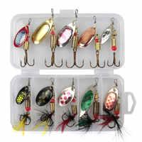 10 piezas Lua de conjunto de lentejuelas pieza de mano spinner metal lentejuelas 3g a 7g bionic cebo pez grande pequeño