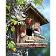 Diy Diamond Embroidery Bird Nest Full 5D Painting Mosaic Home