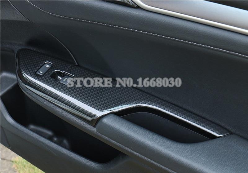 ABS Carbon Fiber Style Door Armrest Window Window Cover For Honda - Ավտոմեքենայի ներքին պարագաներ - Լուսանկար 5