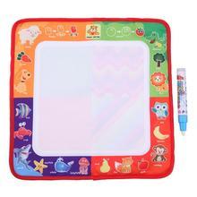 Детские интеллектуальные игрушки Вода, рисование, живопись пишущие игрушки каракули аквапудель коврик Детский планшет для рисования ручка для рисования водой