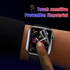 Image 3 - 2 pièces souple Hydrogel Film protecteur plein écran pour Apple Watch 5 38mm 42mm 40mm 44mm Film trempé pour iwatch 5/4/3/2/1 pas de verre
