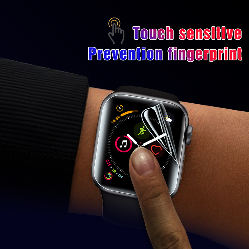 Image 3 - 2Pcs Soft Hydrogel Full Screen Protector Film For Apple Watch 5 38mm 42mm 40mm 44mm Tempered Film For iwatch 5/4/3/2/1 Not Glass-in Phone Screen Protectors from Cellphones & Telecommunications