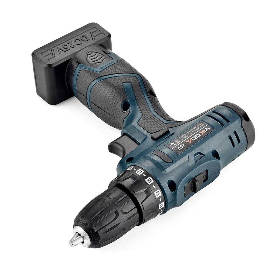 Image 4 - YIKODA 25 В аккумуляторная электрическая дрель перезаряжаемая литиевая батарея двойная скорость электрическая отвертка бытовые электроинструменты-in Электрические сверла from Инструменты on