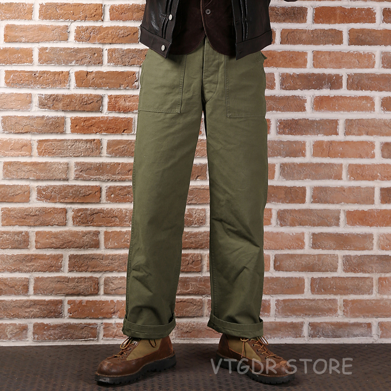 Vintage Bronson US Amry 1958 Vietnam War OG107 Utility Fatigue Trousers Baker Pants Men