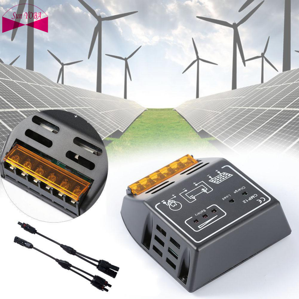 20a Intelligen Solar Panel Battery Regulators Charge Controller 12v 24v Charger Circuit Auto Short Protection Y Type Mc4 Connector In Controllers From Home