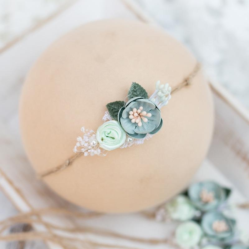 Baby Headband With Flower Girl Photo Shoot Newborn Photography Props For Studio Princess   Headwear   Flower Hair Accessories