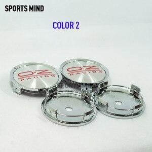 Image 3 - Колпачки центральной ступицы автомобильных колес, 4 шт./лот 75 мм, эмблема гоночного колеса OZ, аксессуары для стайлинга автомобиля