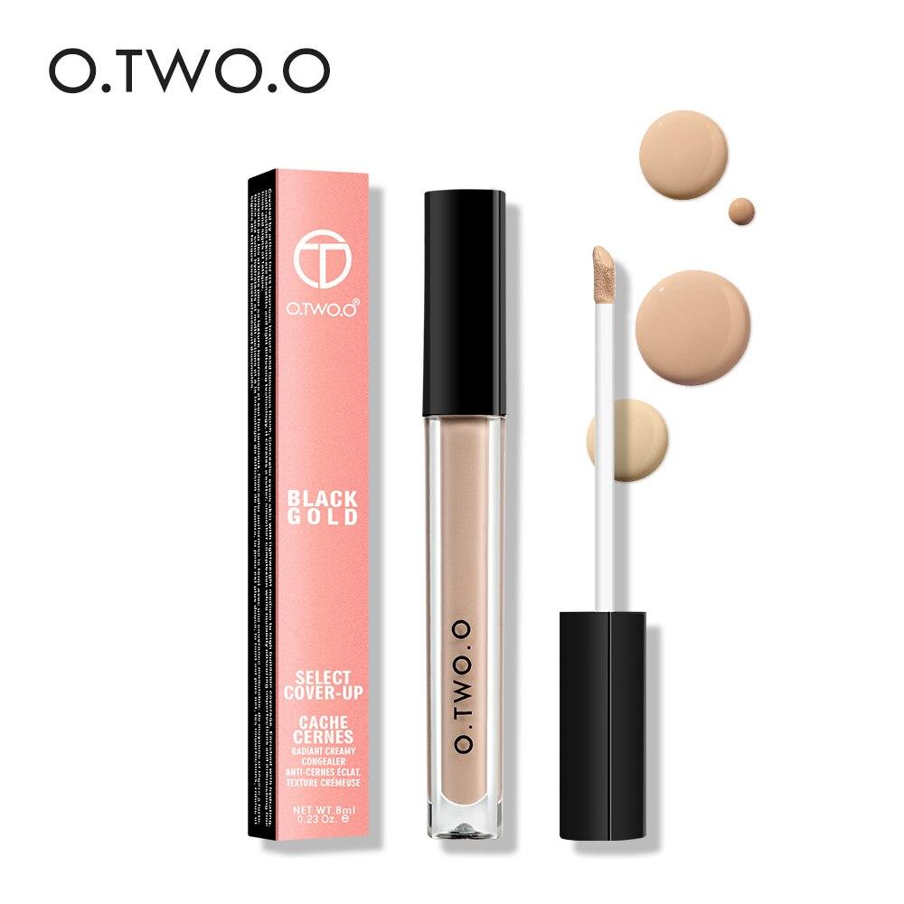 O TWO O Face Contour Makeup Liquid Concealer Whitening Brighten Dark Skin Foundation Liquid Concealer Makeup