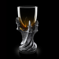 New 3D Resin Dragon Claw Glass Goblet European Personality Skull Strong Wine Whisky Cocktail Cup Beer Steins Party Drinkware