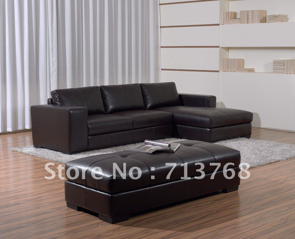 high quality modern furniture living room leather sofa