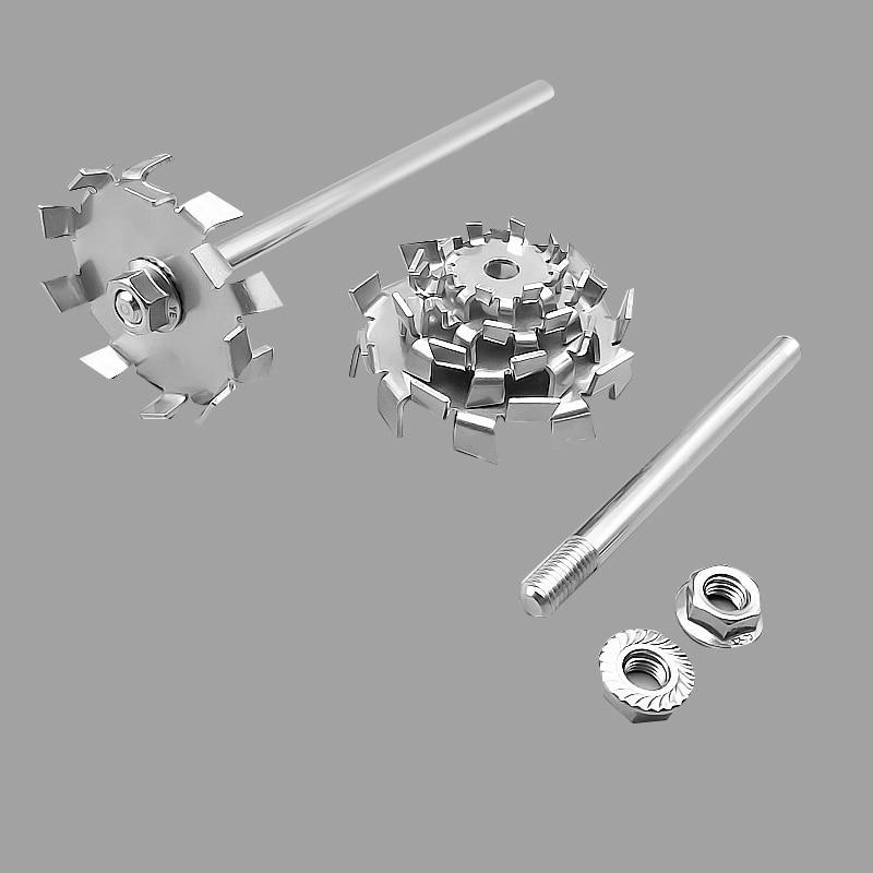 Lab 304 Stainless Steel Stir Bar Saw Tooth Type Stirrer Dispersion Disk,round Plate Dispersing Propeller Stirring Blade Blender