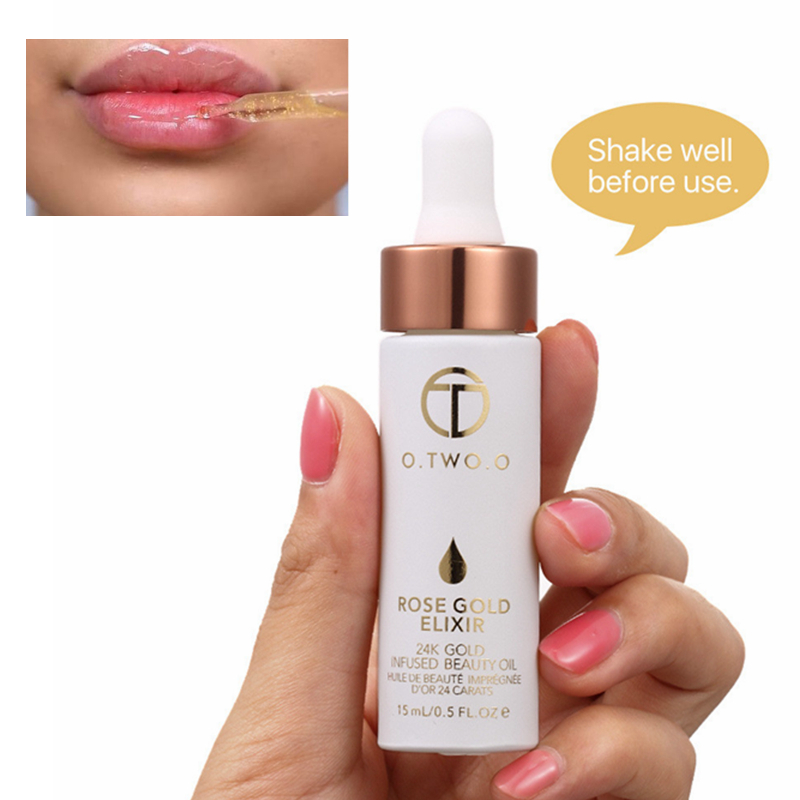 Face Makeup Primer Nutritious Moisturizer Pores Easy to Absorb 24K Rose Gold Essential Oil Transparent Skin Base Makeup Primer