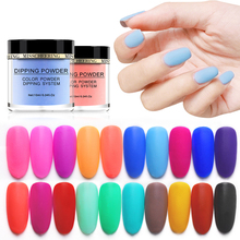 20 Colors MANZILIN 10g/Bottle Dipping Powder Colorful Series Nail Decoration Matte Dust Glitters NHDPA