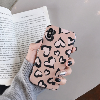 Lovely Heart Retro Leopard Case For iPhone 1