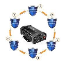 1000 Вт/500 Вт/400 Вт Автомобильный инвертор 12В к AC110V солнечный инвертор модифицированный синусоидальный преобразователь питания адаптер Горячий