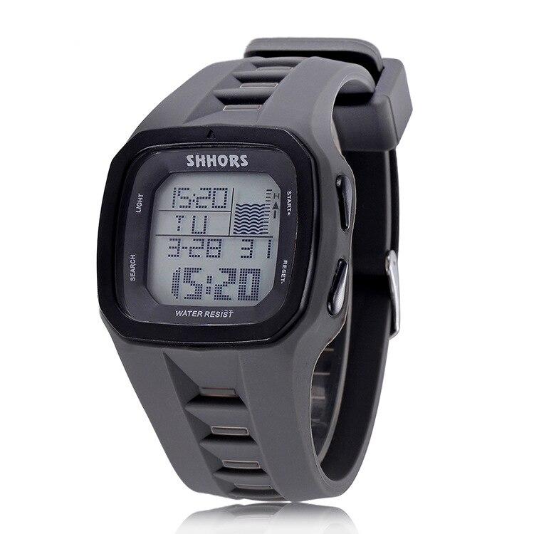 SHHORS бренд Спорт цифровые часы Для мужчин Силиконовые часы LED наручные электронные Водонепроницаемый часы силиконовые армия Reloj Hombre 2017