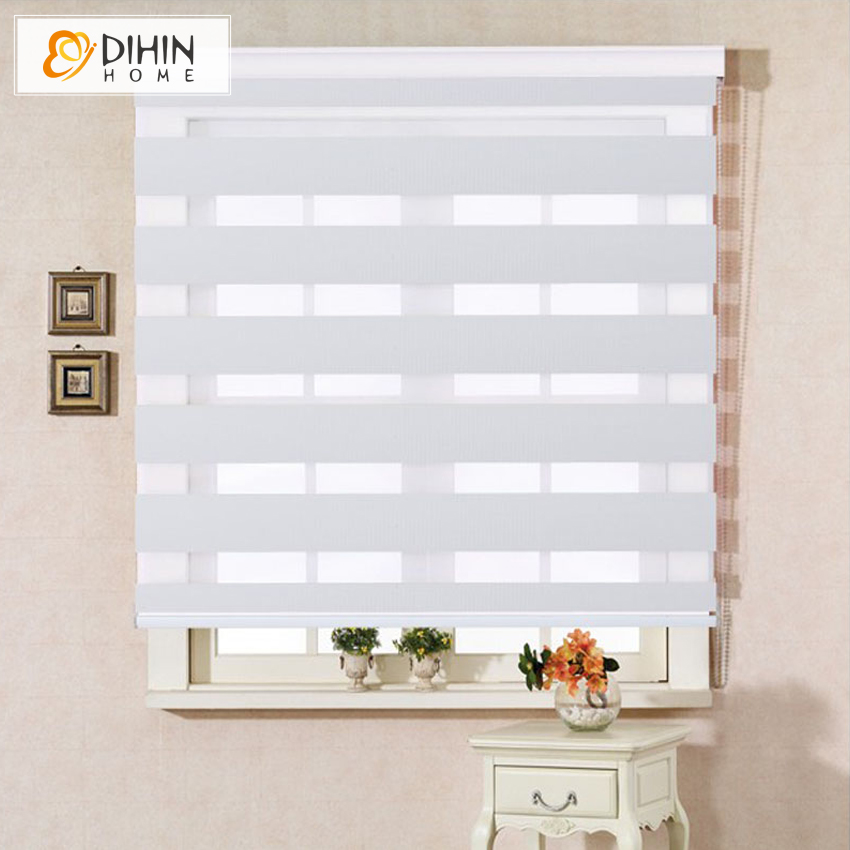 Free shipping high quality double layer roller zebra blinds custom made curtain for home decor