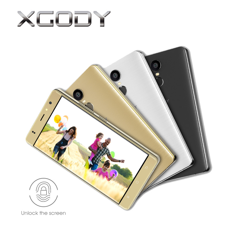 XGODY M20 Pro 4G LTE 5.5 Inch Smartphone Android 6.0 1G RAM 16G ROM Fingerprint ID 1280*720 HD Display WiFi GPS Mobile Phone