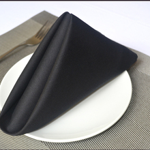 50pcs Black color 100% Cotton Dining Napkins Table Linen HIGH QUALITY All Occasions 48cmx48cm