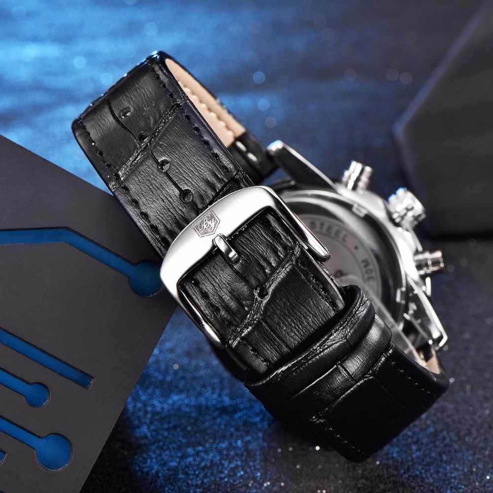 941ab75d5427 ... BENYAR Hombres Relojes de Primeras Marcas de Lujo de Negocios A Prueba  de agua Deporte Cronógrafo ...