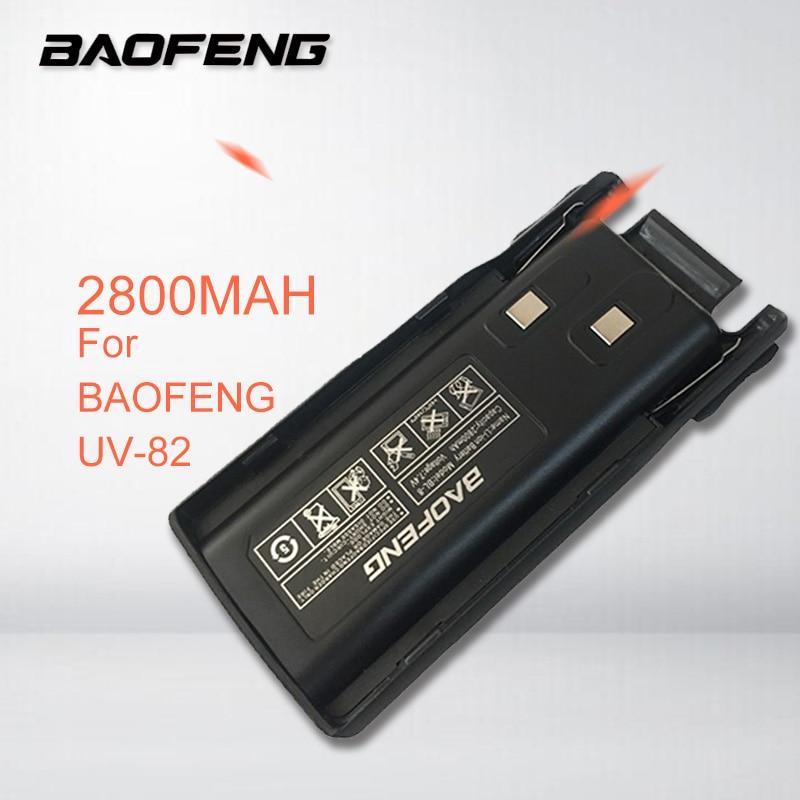 Original BAOFENG UV-82 Li-ion Battery 2800MAH For UV-82 UV-8D Walkie Talkie Portable CB Radio Station UV82 UV8D Accessories
