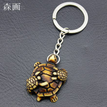 New Imitation Yak Bone Carved Cute Tortoise Key Chains Child   Mother Sea  Turtles Keyrings for Men women Car Keychains KR03 9964f4577a