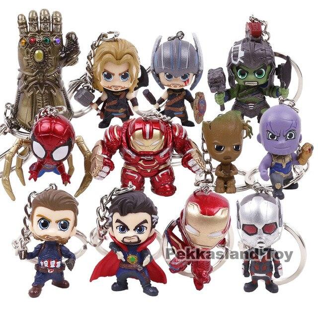 Vingadores Thanos Doutor Estranho Infinito Guerra Homem De Ferro Homem Aranha Capitão América Homem Hulk Mini Figuras de Ação Brinquedos Formiga Pingentes