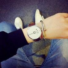 ULZZANG Correa de Cuero Reloj de Las Mujeres viste el reloj reloj de los hombres de malla de alambre de moda Casual watch Unisex reloj del Cuarzo relogio relojes